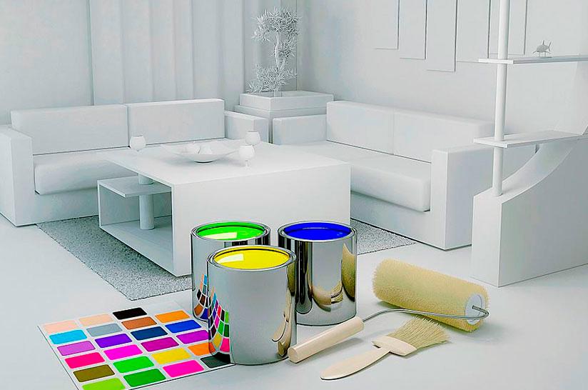 Pintar el hogar antes de la mudanza